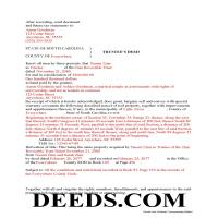 Florence County Completed Example of the Trustee Deed Document Page 1