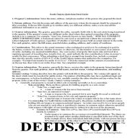 Moody County Quit Claim Deed Guide Page 1