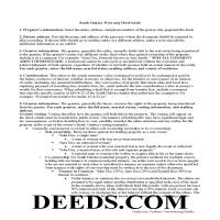 Union County Warranty Deed Guide Page 1