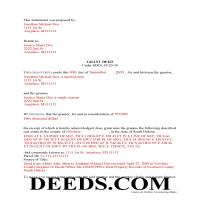 Todd County Completed Example of the Grant Deed Document Page 1