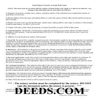 Hand County Transfer on Death Deed Guide Page 1
