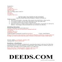 Hand County Completed Example of the Transfer on Death Deed Document Page 1
