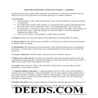 Beadle County Disclaimer of Interest Guide Page 1