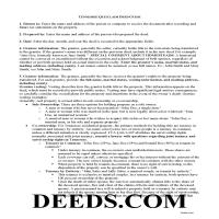 Union County Quit Claim Deed Guide Page 1