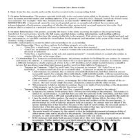 Claiborne County Gift Deed Guide Page 1