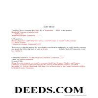 Claiborne County Completed Example of the Gift Deed Document Page 1