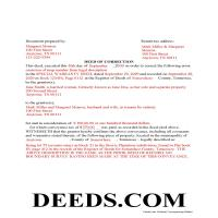 Sevier County Completed Example of the Correction Deed Document Page 1