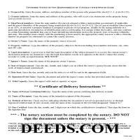 Union County Notice of Non-Responsibility Guide Page 1