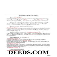 Union County Completed Example of the Indemnity Agreement Document Page 1