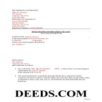 Union County Completed Example of the Demand for Enforcement Document Page 1