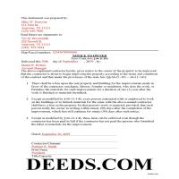 Sevier County Completed Example of the Notice to Owner Document Page 1