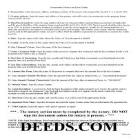 Union County Notice of Mechanics Lien Guide Page 1