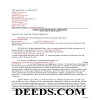 Claiborne County Completed Example of the Final Lien Waiver Document Page 1