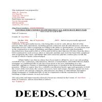 Sevier County Completed Example of the Contractor Notice of All Liens Paid Document Page 1