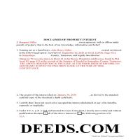 Union County Completed Example of the Disclaimer of Interest Document Page 1