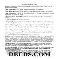 Bosque County Correction Deed Guide Page 1