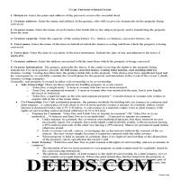 Juab County Trustee Deed Guide Page 1