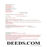 Utah County Completed Example of the Trustee Deed Document Page 1