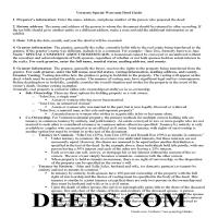 Essex County Special Warranty Deed Guide Page 1