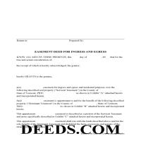 Grand Isle County Easement Deed Form Page 1