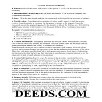 Grand Isle County Easement Deed Guide Page 1