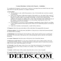 Windham County Disclaimer of Interest Guide Page 1