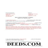 Windham County Completed Example of the Disclaimer of Interest Document Page 1