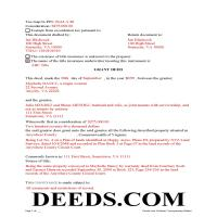 Lee County Completed Example of the Grant Deed Document Page 1