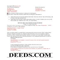 Mecklenburg County Completed Example of the Transfer on Death Deed Document Page 1