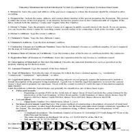 Falls Church City Memorandum for Mechanics Lien Guide Page 1