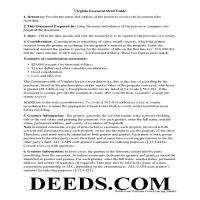 Martinsville City Easement Deed Guide Page 1