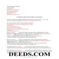 Harrisonburg City Completed Example of the Easement Deed Document Page 1