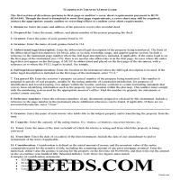 Wahkiakum County Trustee Deed Guide Page 1