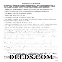 Clark County Claim of Mechanics Lien Guide Page 1