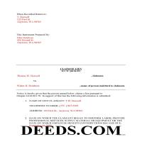 Adams County Completed Example of the Claim of Mechanics Lien Document Page 1