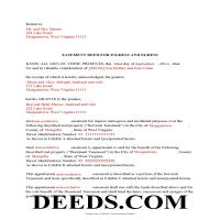 Mcdowell County Completed Example of the Easement Deed Document Page 1