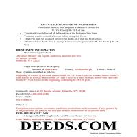 Morgan County Completed Example of the Transfer on Death Deed Document Page 1