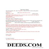 Brooke County Completed Example of the Trustee Deed Document Page 1