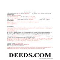 Pendleton County Completed Example of the Correction Deed Document Page 1