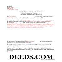 Doddridge County Completed Example of the Disclaimer of Interest Document Page 1