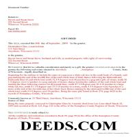 Pepin County Completed Example of the Gift Deed Document Page 1