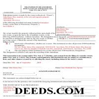Florence County Completed Example of the Transfer on Death Deed Document Page 1