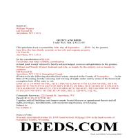 Natrona County Completed Example of the Quit Claim Deed Document Page 1