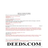 Natrona County Completed Example of the Special Warranty Deed Document Page 1