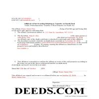 Johnson County Completed Example of the Transfer on Death Affidavit Document Page 1