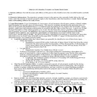 District Of Columbia County Transfer on Death Deed Guide Page 1