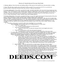 District Of Columbia County Special Warranty Deed Guide Page 1