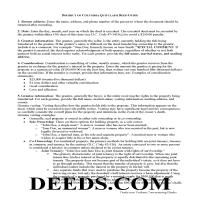 District Of Columbia County Quit Claim Deed Guide Page 1