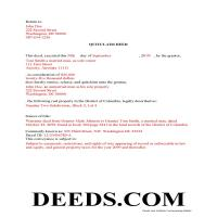 District Of Columbia County Completed Example of the Quit Claim Deed Document Page 1
