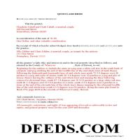 Hawaii County Completed Example of the Quit Claim Deed Document Page 1